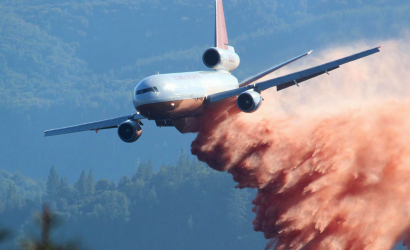 Video: Firefighting DC-10 Puts On A Low-Level Show! And Watch An SUV Get Demolished By A Retardant Drop