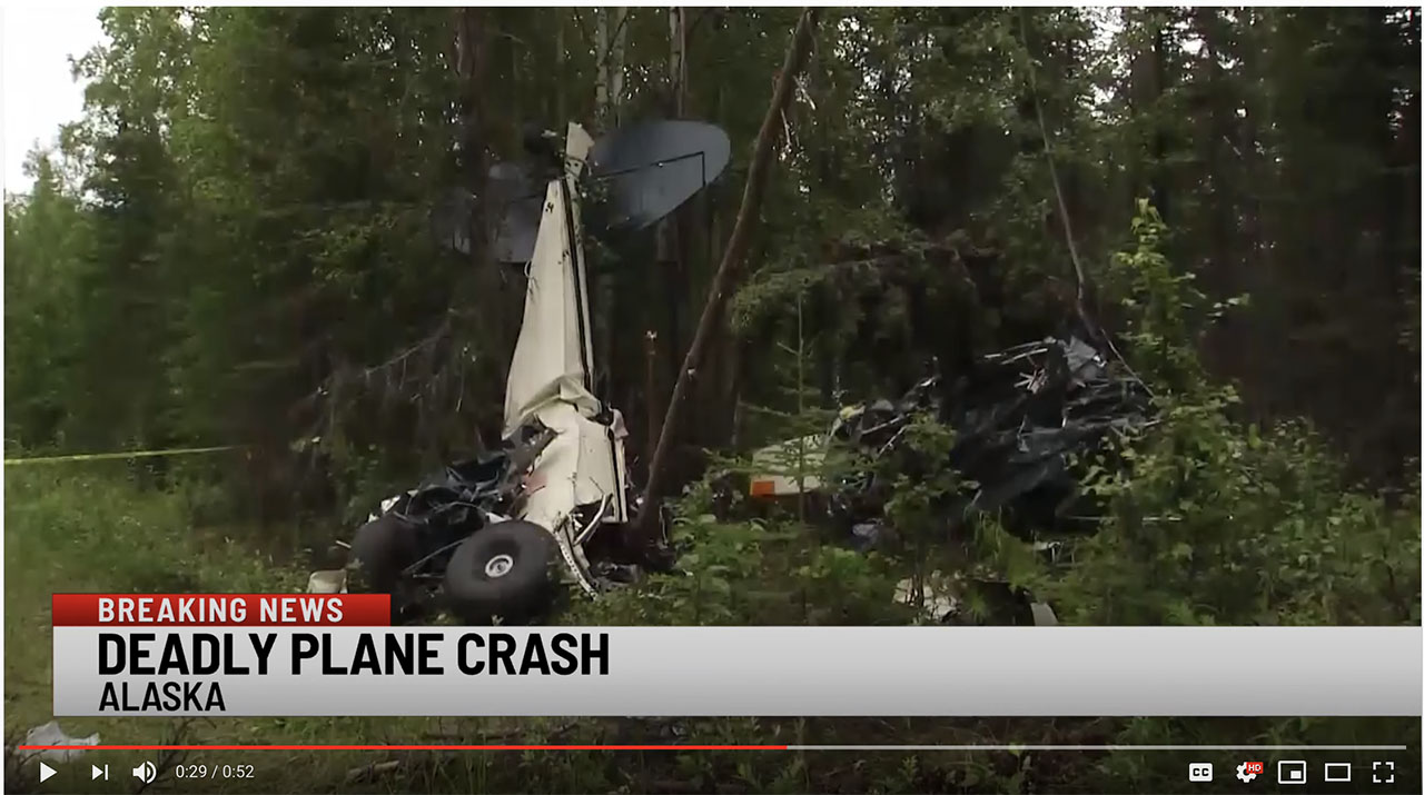 A screencap of WSPA 7News coverage of the incident shows a damaged plane.