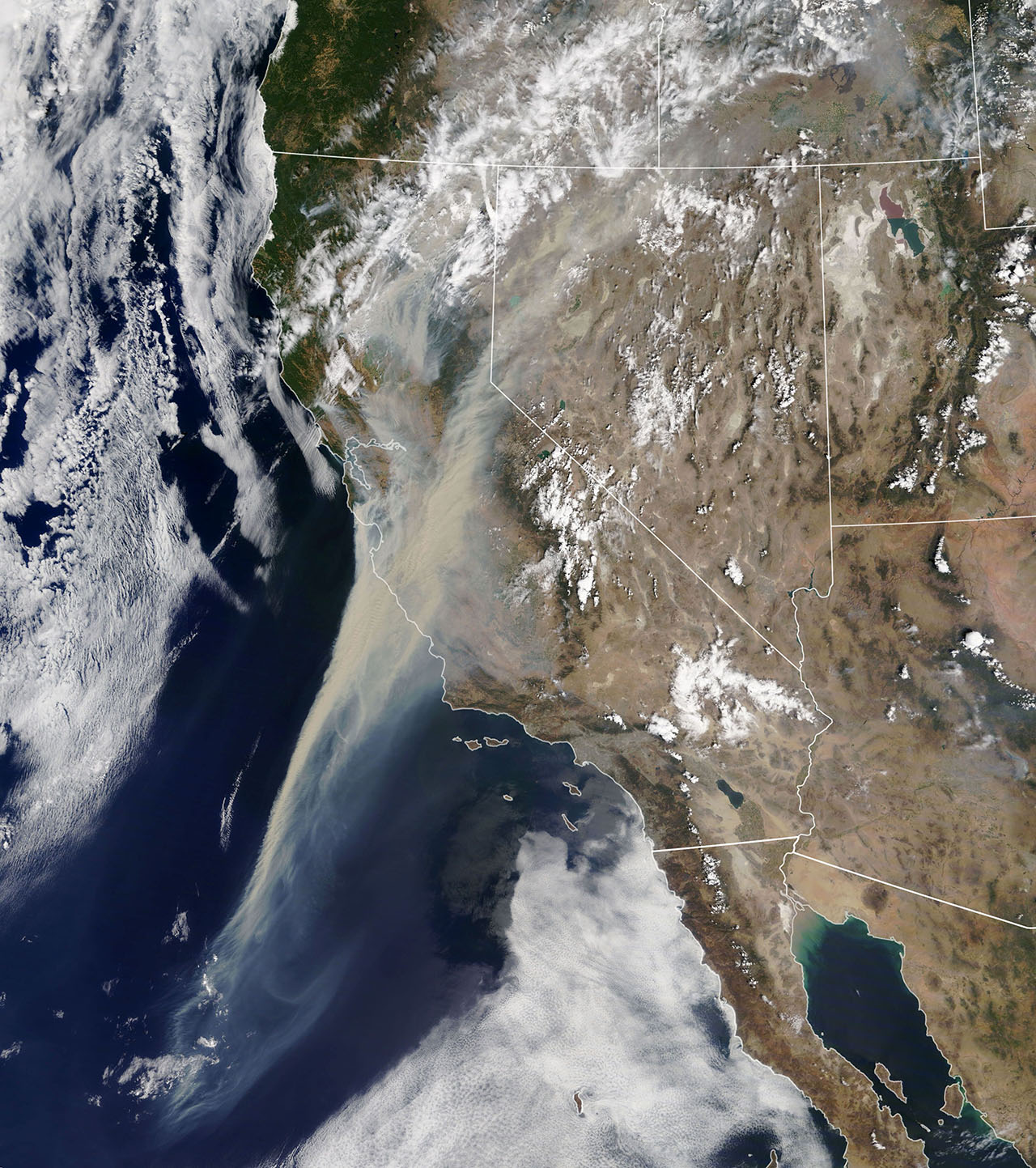 Western Wildfires from Space