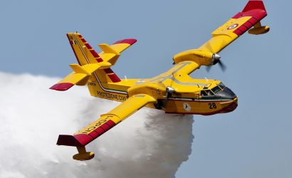 Video Of The Week: Water Bomber Picks Up A Load And Then Hits The Bull's Eye!