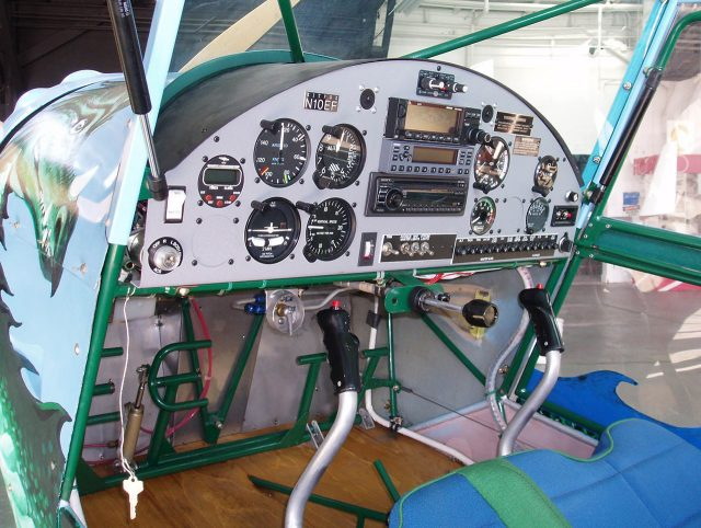 A beautifully finished panel of a Kitfox kitplane.