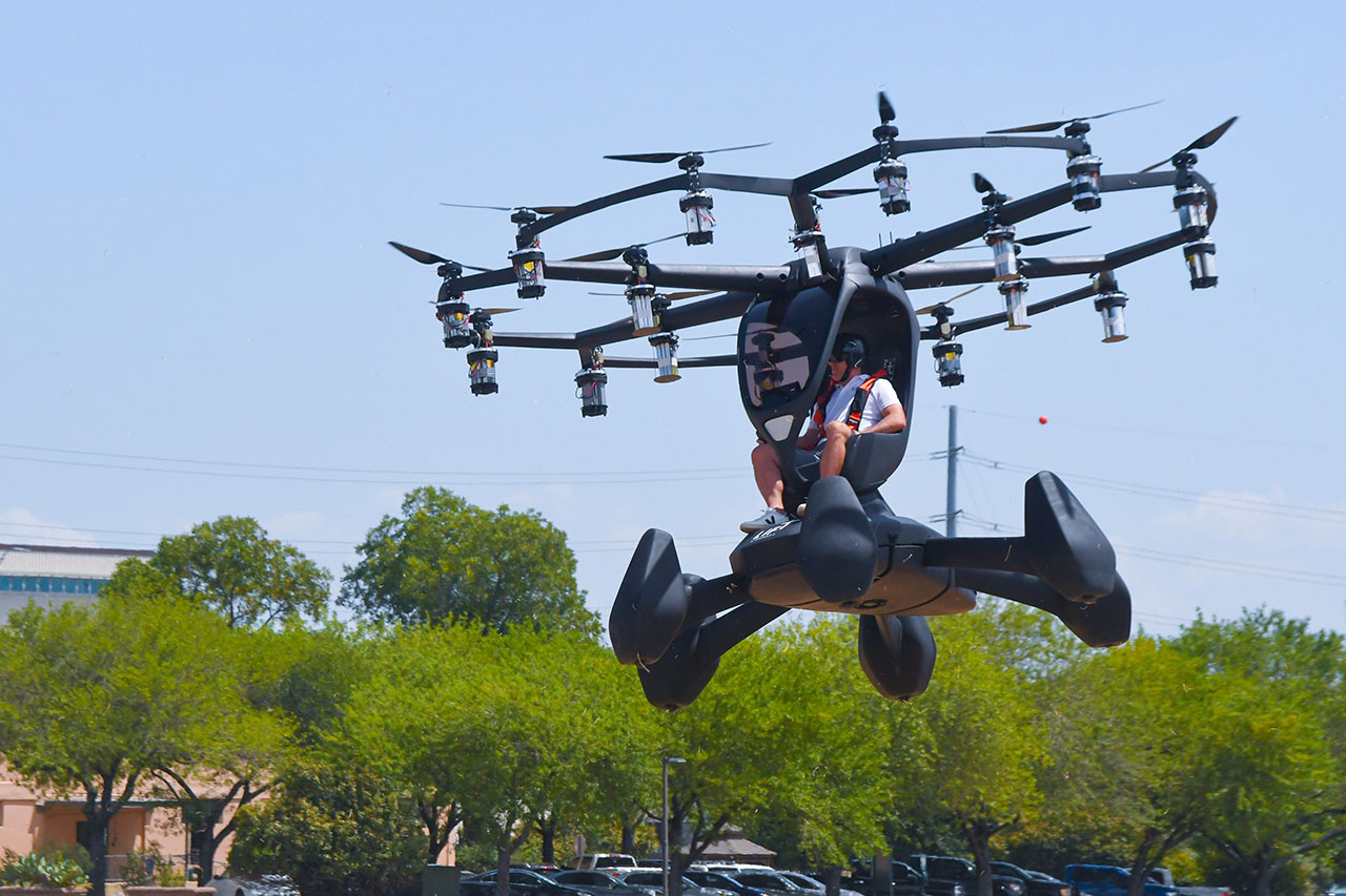 Hexa personal multicopter.