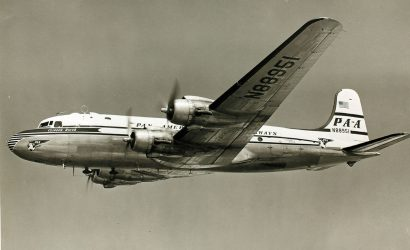 A Pan Am DC-4, similar to the one in this photo, was said to have disappeared for decades only to reappear under strange circumstances. Nothing about the story, however, adds up.