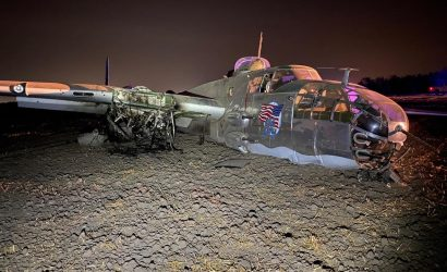 B-25 Crashes In California Under Unknown Circumstances