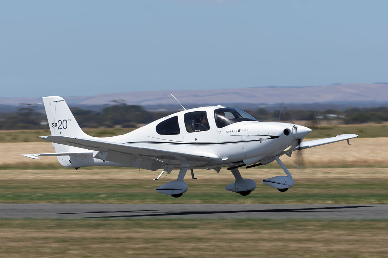 A Cirrus SR20 similar to the accident airplane.