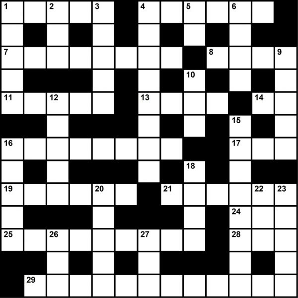 October 2020, Crossword Puzzle