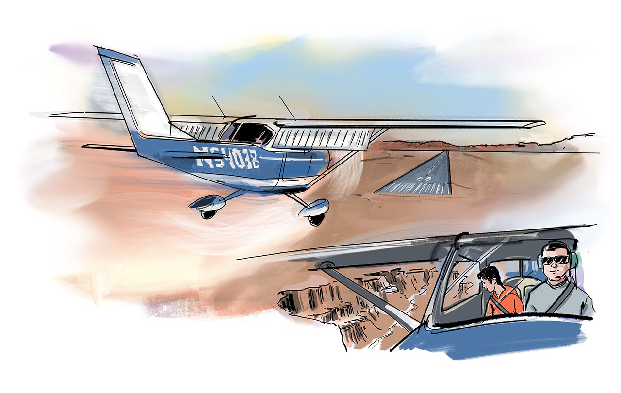 High Desert Flying. Illustration by Gabriel Campanario