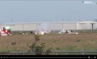 Video: Fiery Midair Collision In Texas