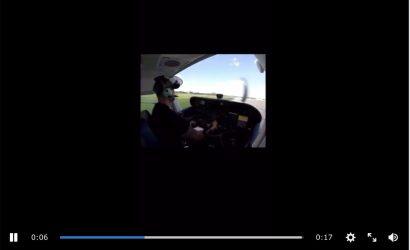 Video: Guy Screws Up Landing, Flies Into Hangar
