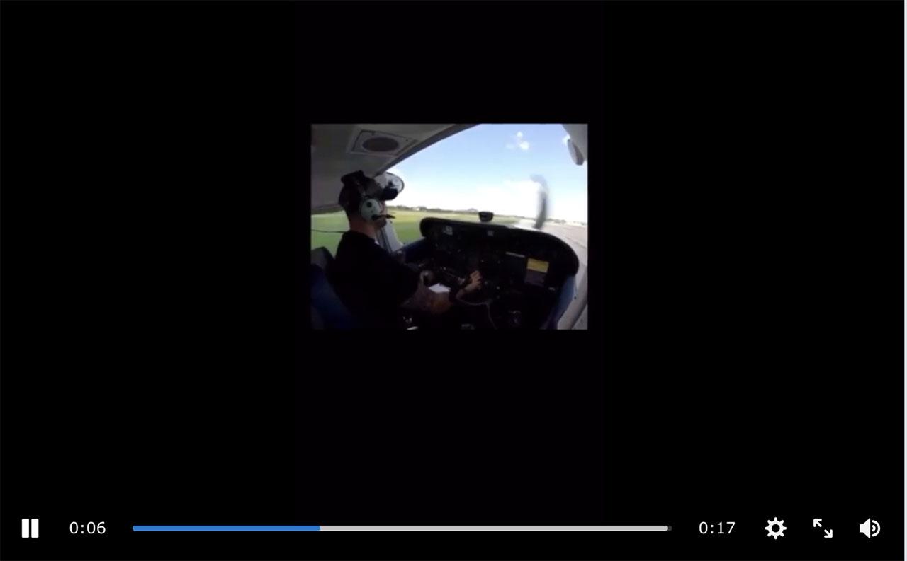 Man flies into hangar