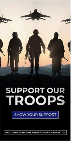 Support Our Troops Trump Ad
