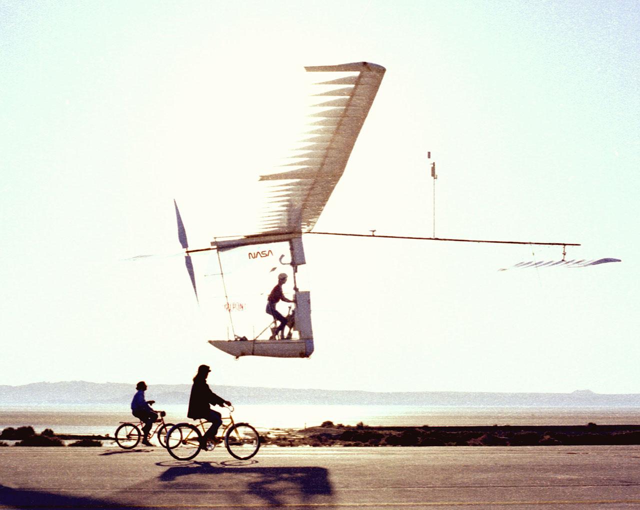 The Gossamer Albatross in flight.