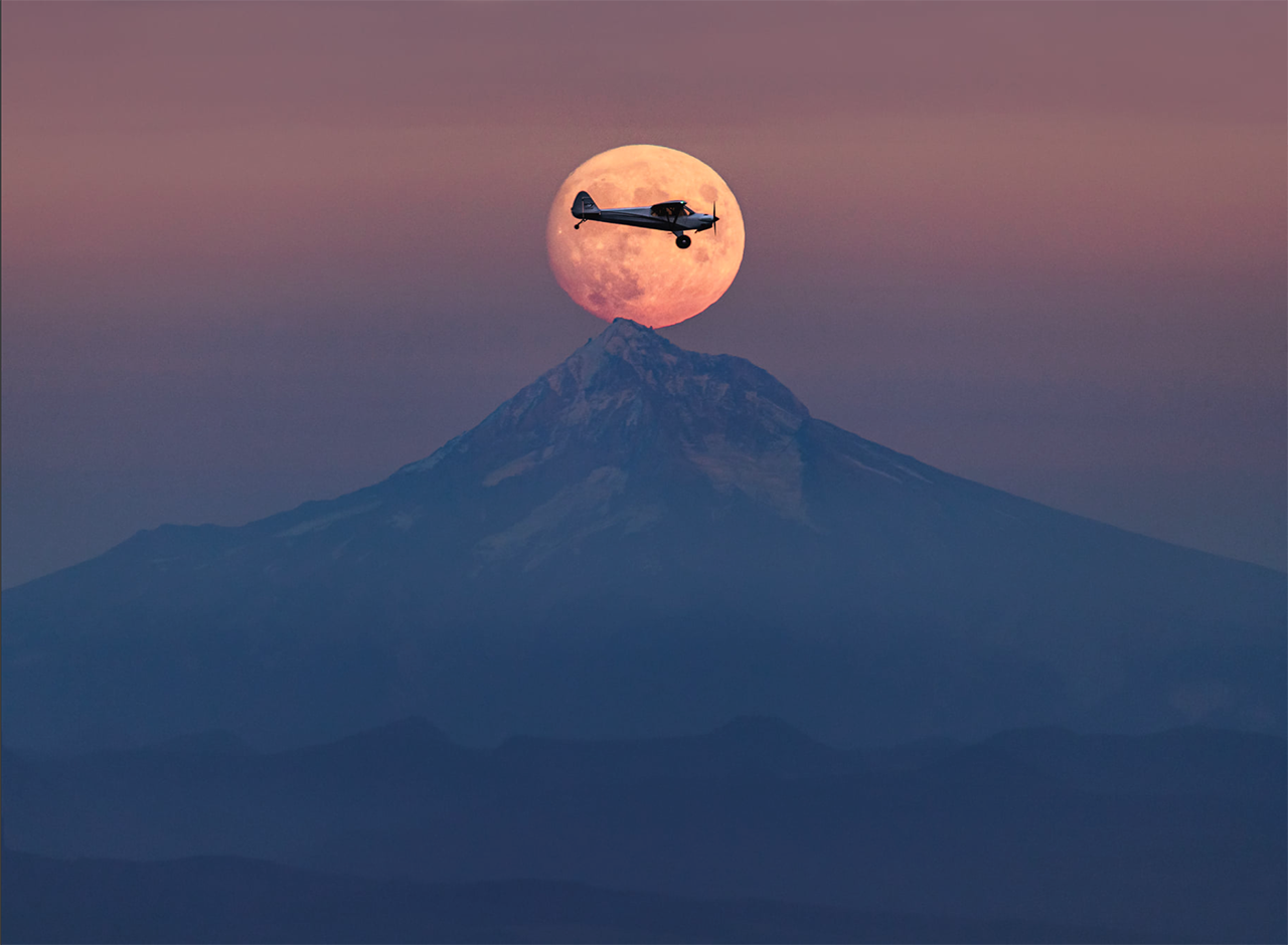 Photo of the Week: Framed by the Moon