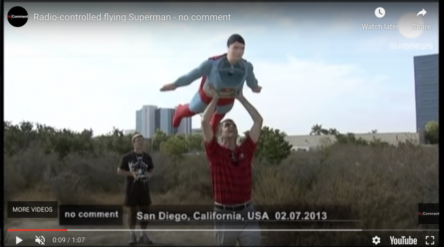 Radio-controlled Superman