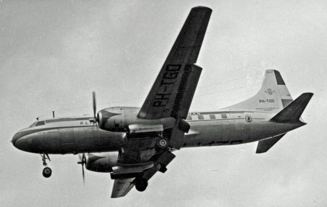 The accident airplane, a Convair 340, similar to this vintage model but converted into a freight hauler.