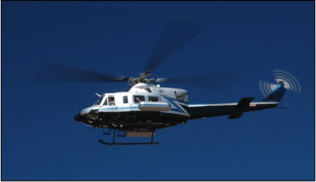 A U.S. Department Of Energy Helicopter said to be conducting radiation monitoring over the Washington D.C. area.