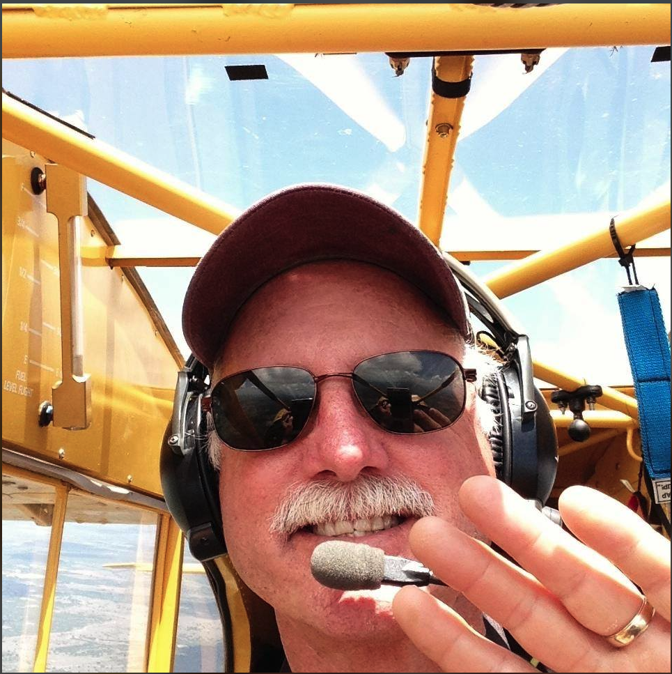 Ken Wittikiend in his Super Cub, from his Facebook page.