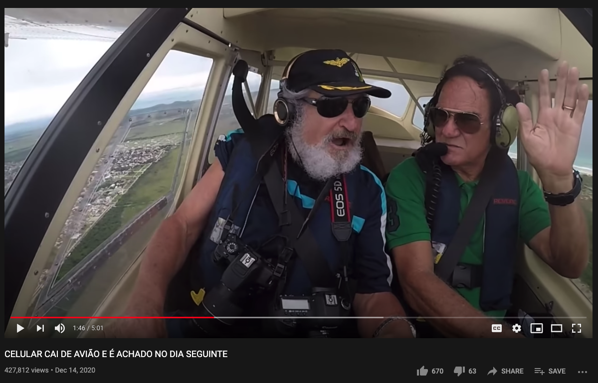 One of our favorite moments, when the pilot offers the photographer a high-five for having just lost his $1,000 iPhone out the window. Needless to say, the photographer leaves him hanging.