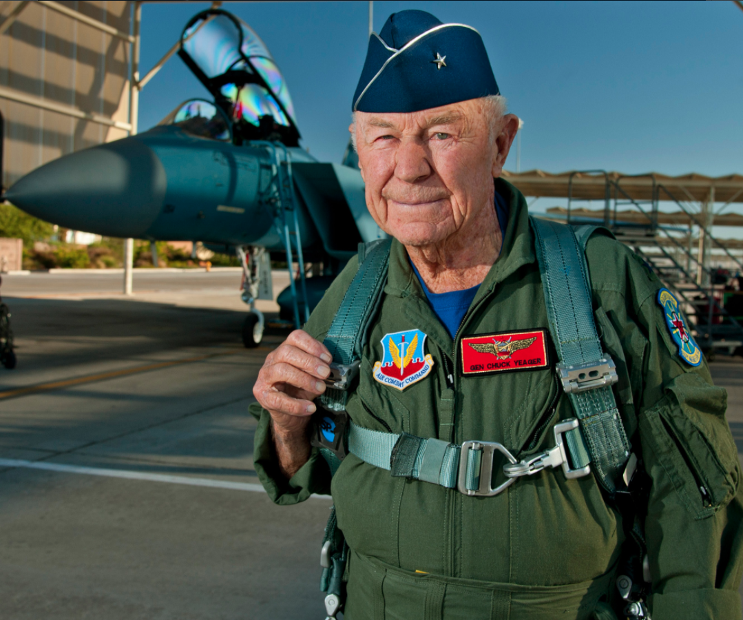 General Chuck Yeager at 89. Photo by Master Sgt. Jason Edwards, Courtesy United States Air Force