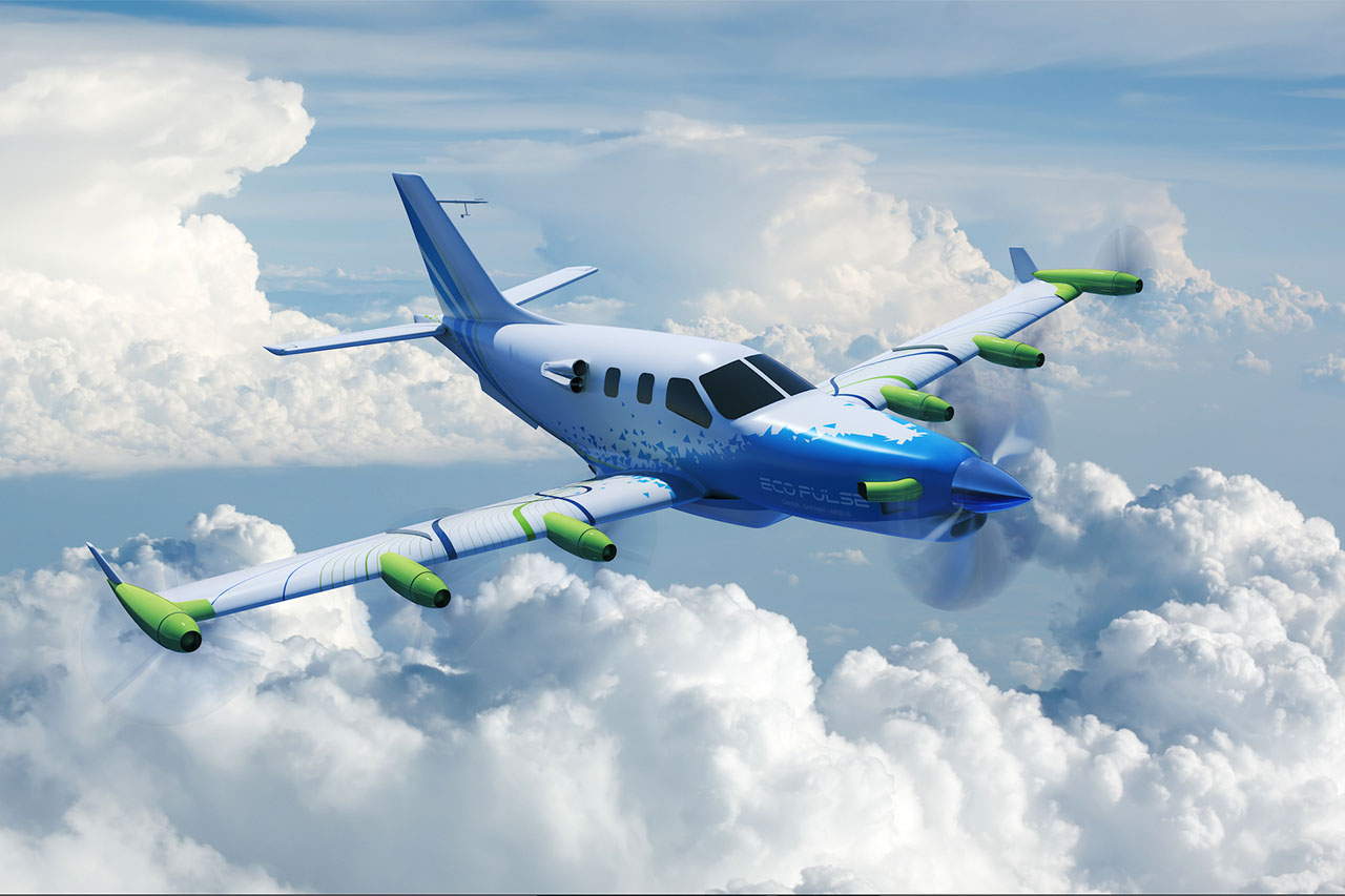 Daher's announcement of the EcoPulse is one of the top headlines from the Aviation world. Artist's rendition courtesy of Daher.