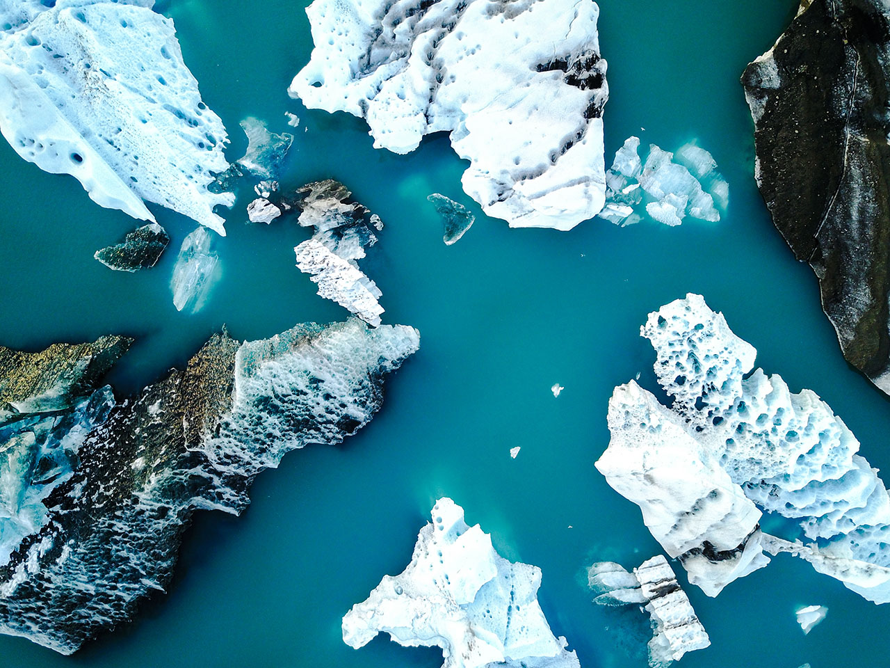 Ice flying the Atlantic