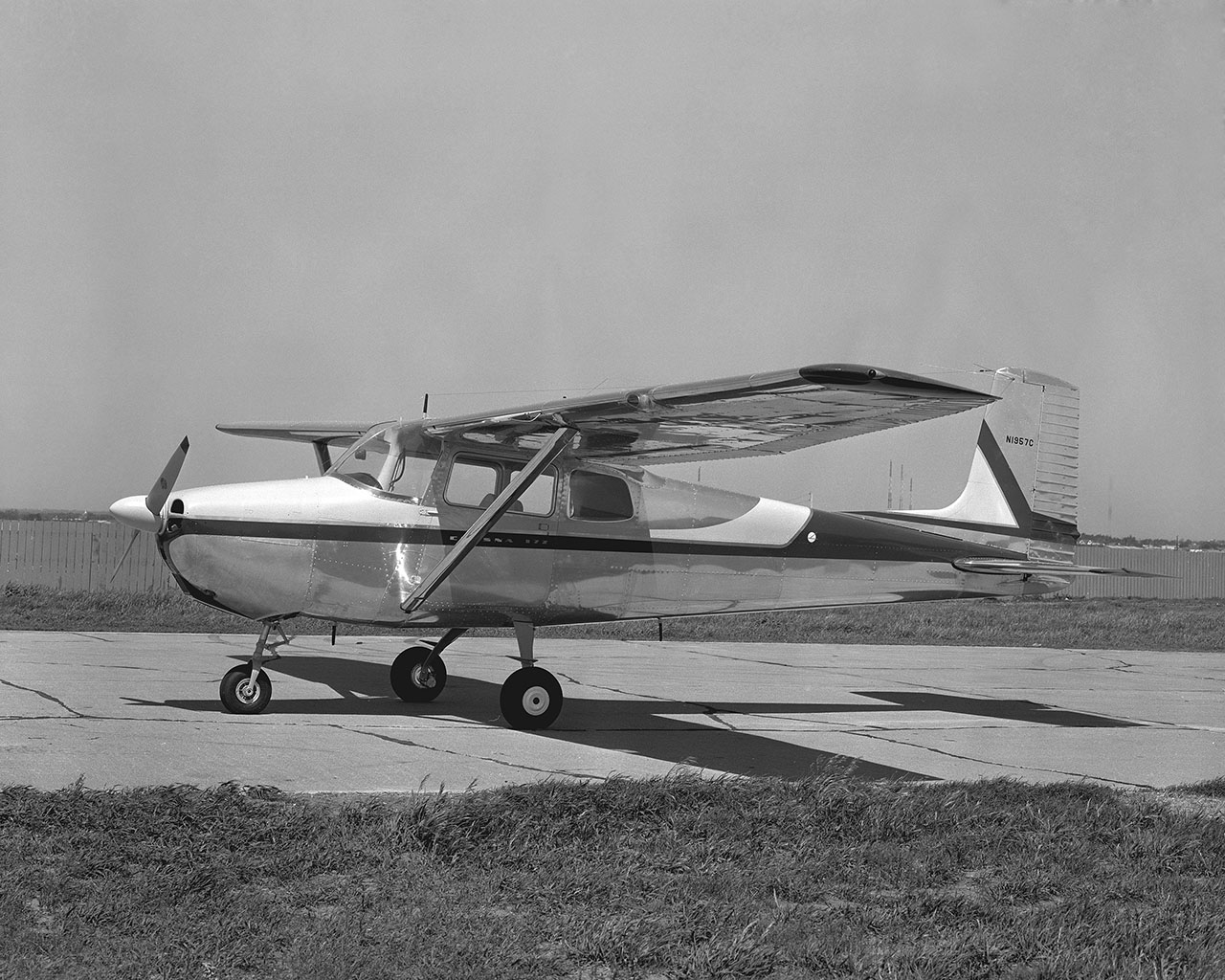 The very first Cessna Model 172, a fastback with a straight tail. Courtesy of Cessna