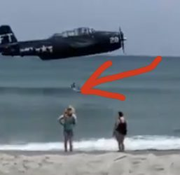 WATCH: TBM Crashes In Surf Near Cocoa Beach During Airshow