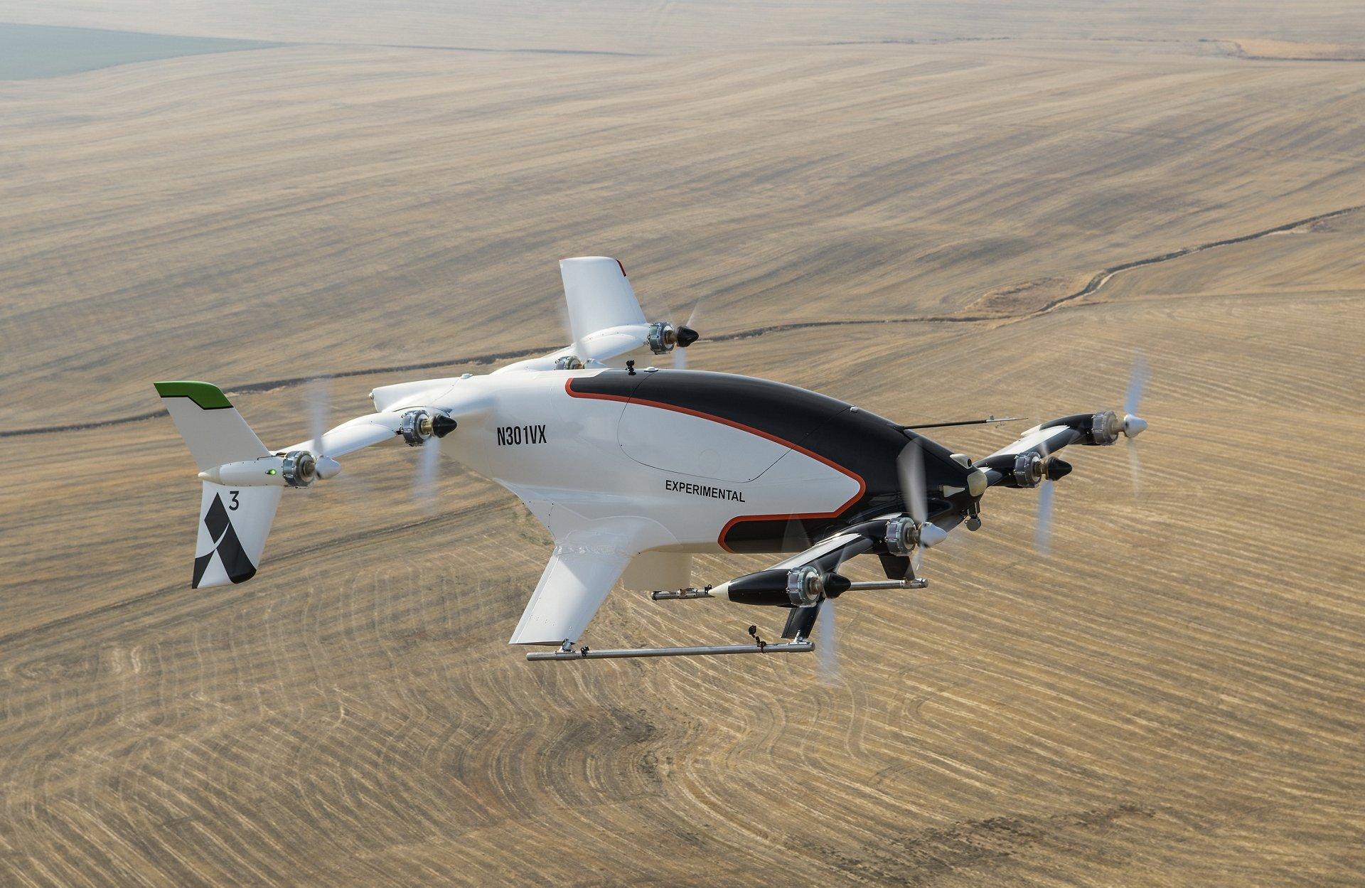 Airbus' experimental eVTOL the Vahana. Photo courtesy Airbus.