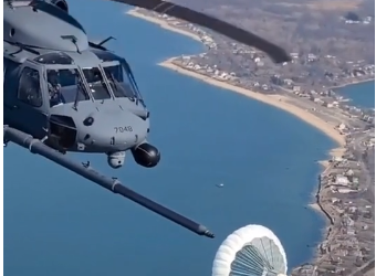 Video: Helicopter Refuels In Flight
