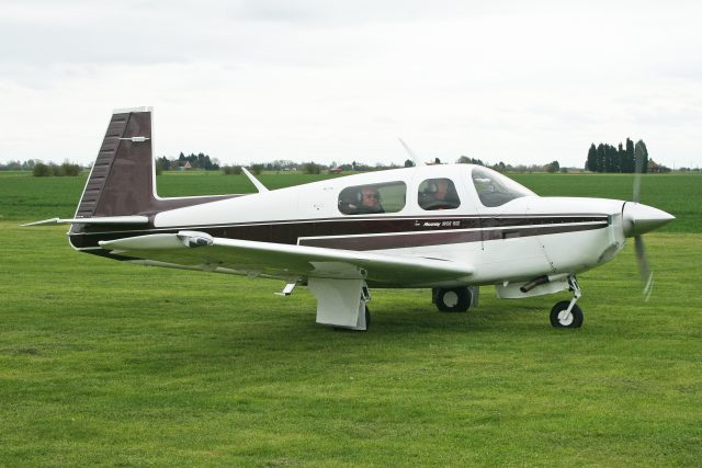 The Mooney M20J (the MSE shown here) is a lightweight, fast and efficient single that gets great speed out of modest power. Photo by Alan Wilson