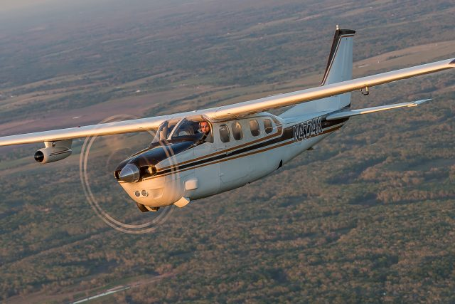 The Cessna 210 evolved into numerous models, including the turbocharged, pressurized P-210.