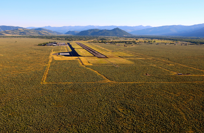 Jackson Hole Airport in Jackson, Wyoming.