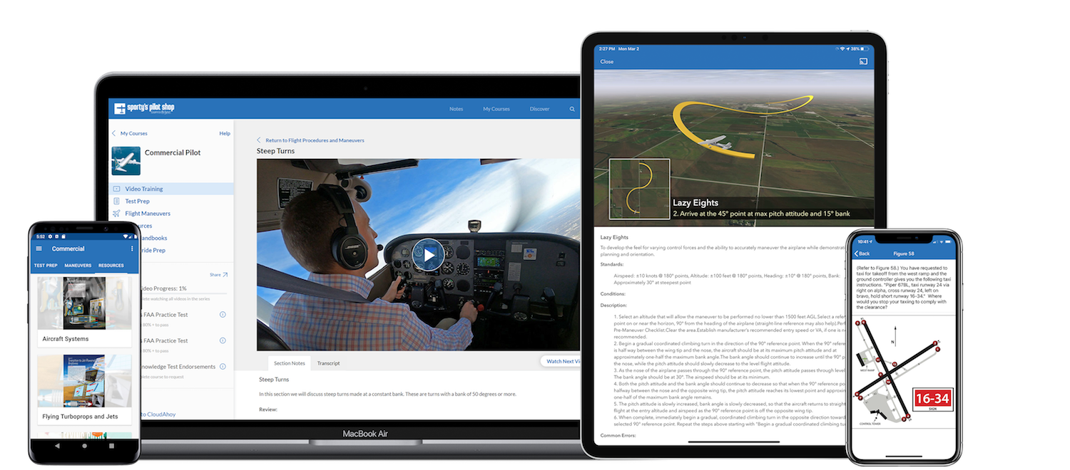 Sporty's Brand-New Commercial Pilot Instructional Course