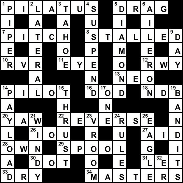 June 2021 Crossword Key