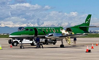 Midair Over Denver Between Small Plane And Charter Plane: Huge Chunk Missing from Fuselage of One
