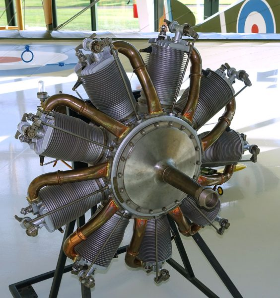 Gnome/Le Rhône Rotary Engine. Photo courtesy Evergreen Aviation and Space Museum