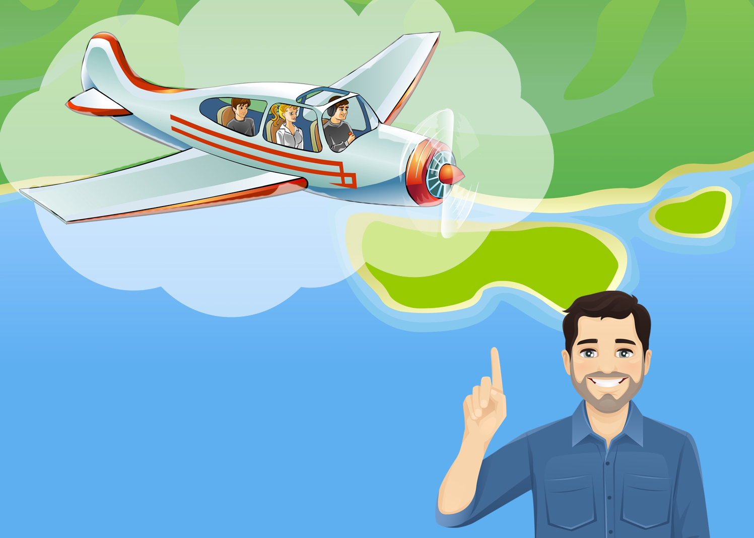 Talking to non-pilot friends about flying