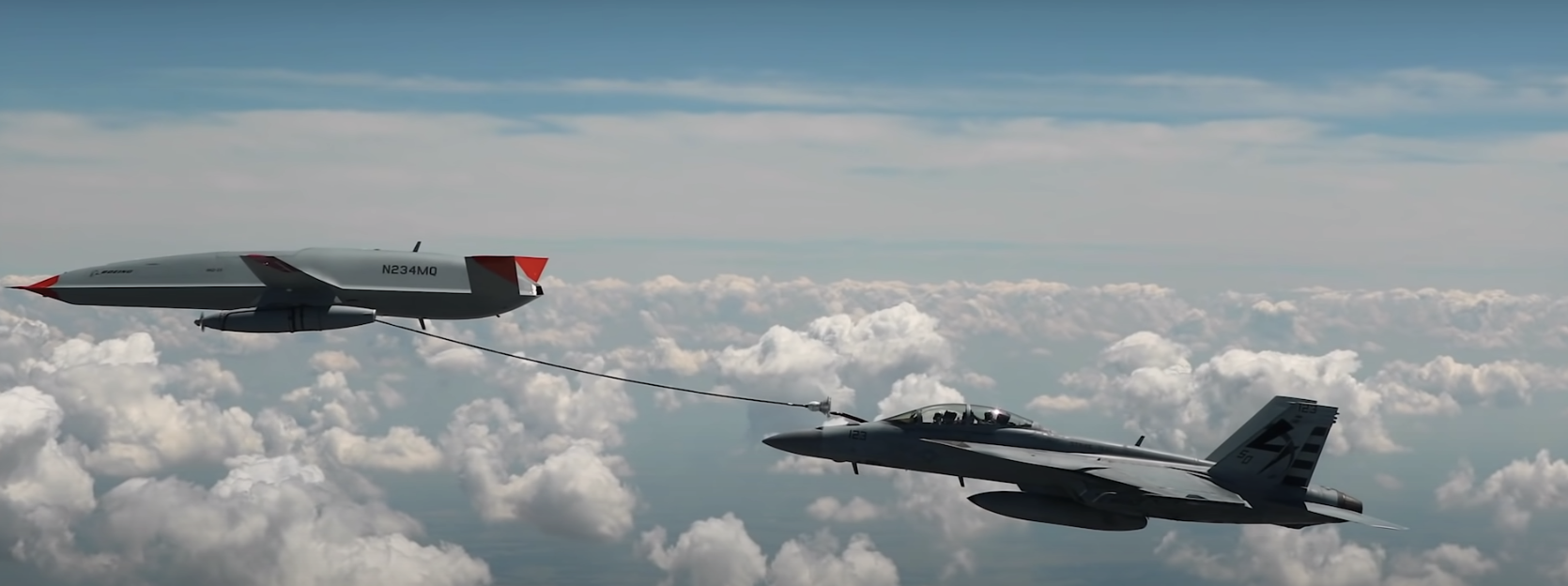 Boeing Does First Drone Aerial Refueling