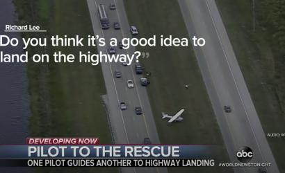 Cessna 174 Freeway Landing