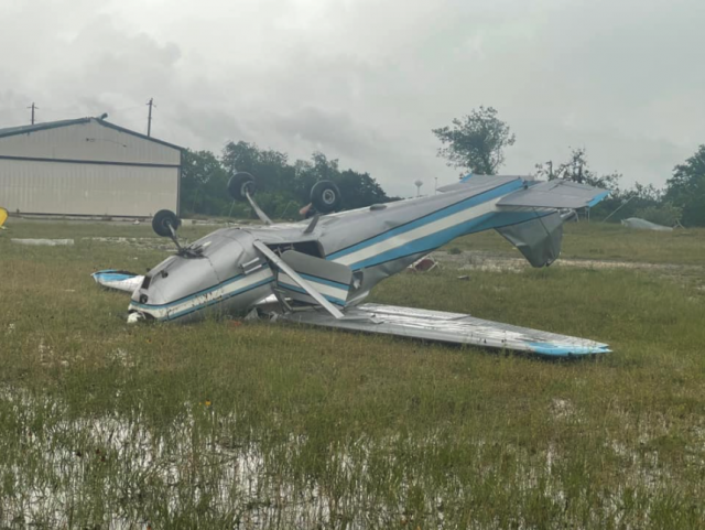 Gatesville, Texas, Airport Hangars, Planes, Wiped Out in Storm