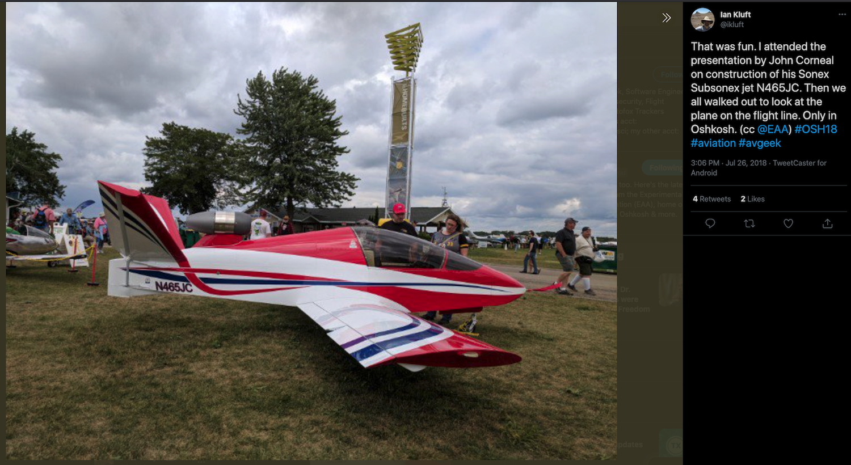 One Dead In Crash of SubSonex Mini Jet In Louisiana