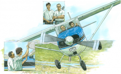 A Father Passes On The Gift Of Flying