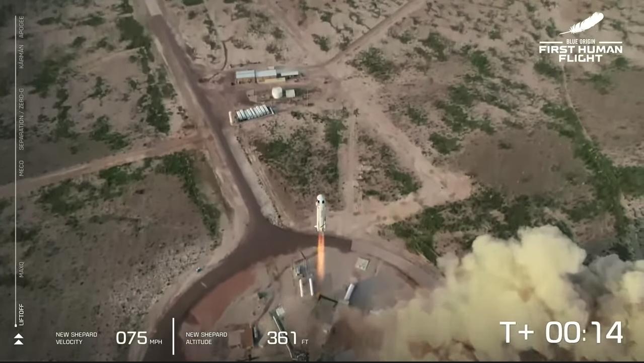 Blue Origin Liftoff Success