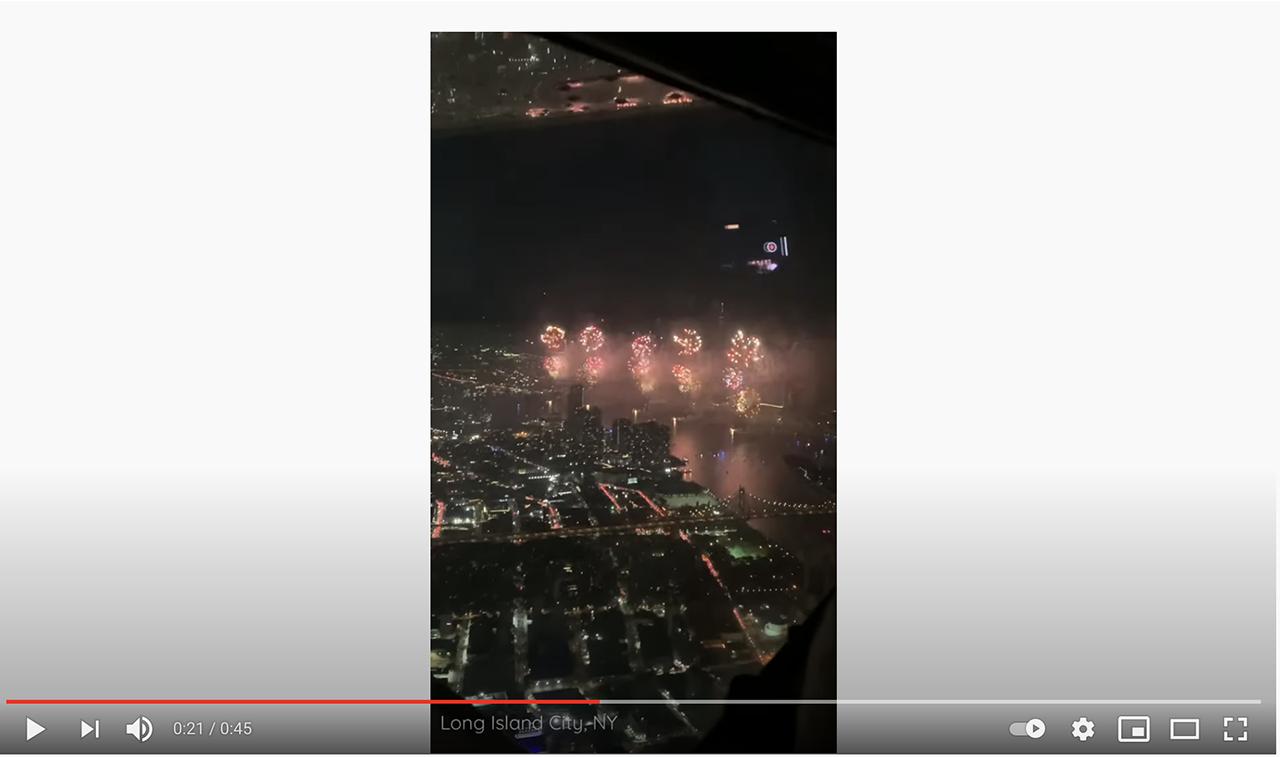 Video: Flying through fireworks