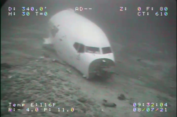 Underwater photo of Transair 810. Courtesy of the NTSB