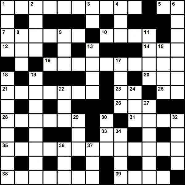 July 2021 Crossword
