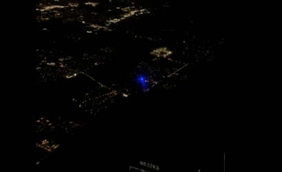 Video/Breaking News: Pilot In Small Plane Gets Illuminated By Laser