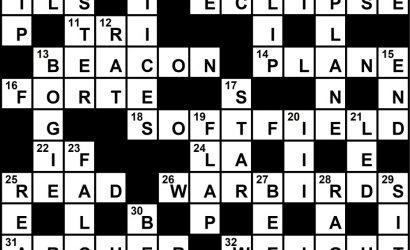 October 2021 Crossword Key