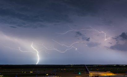 Lightning Blows Hole In Richmond's Runway