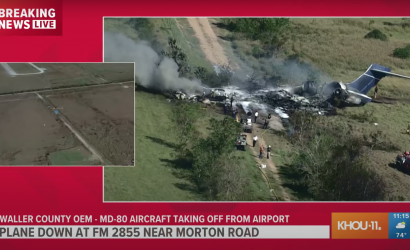 """""""Miraculous."""" No Fatalities As Chartered MD-87 Crashes Near Houston."""